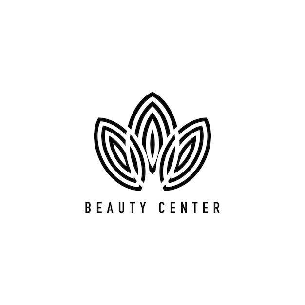 Centro de beleza marca logotipo ilustração Vetor grátis