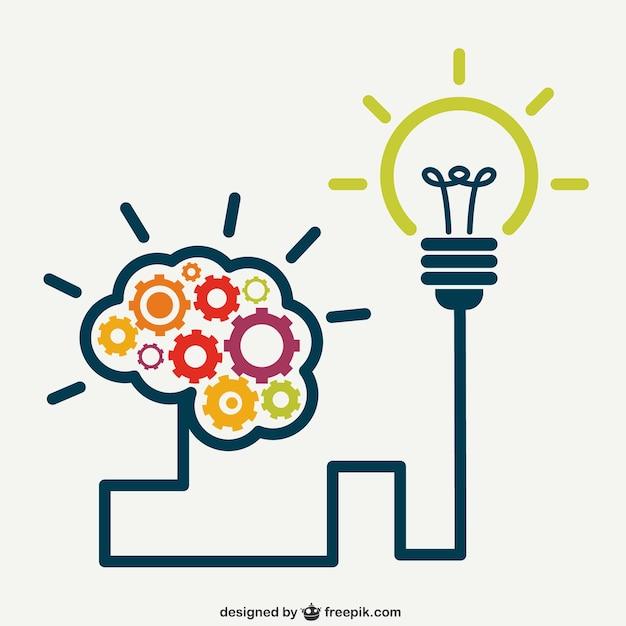 Cérebro criativo Vetor grátis