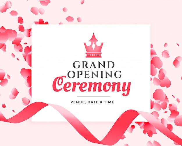 Cerimônia de inauguração design de celebração Vetor grátis