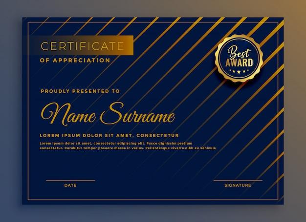 Certificado criativo de ilustração em vetor design modelo de apreciação Vetor grátis