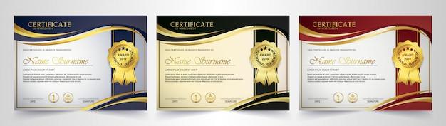 Certificado criativo de modelo de prêmio de agradecimento Vetor Premium