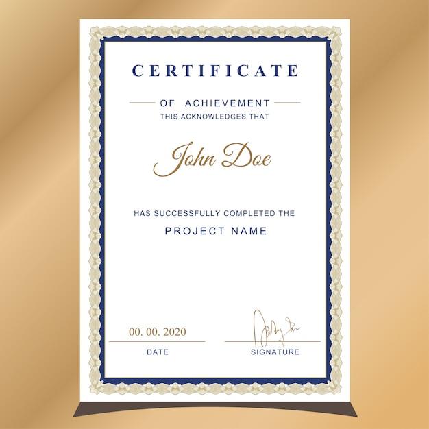 Certificado de apreciação Vetor Premium