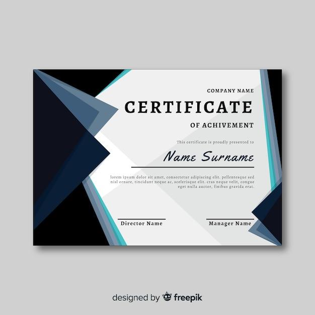 Certificado de conclusão Vetor grátis