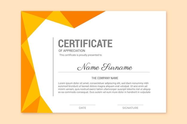 Certificado de realização com design de moldura dourada Vetor grátis
