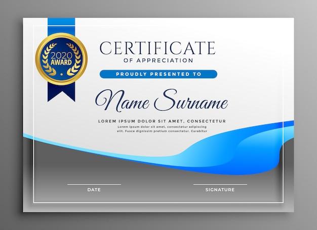 Certificado moderno de modelo de agradecimento Vetor grátis