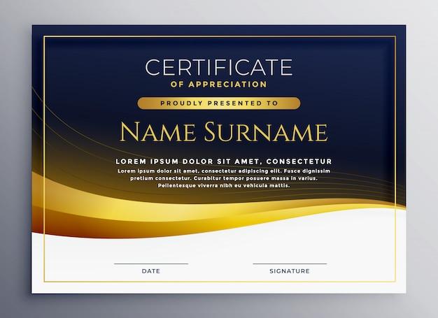 Certificado profissional de modelo de agradecimento ...