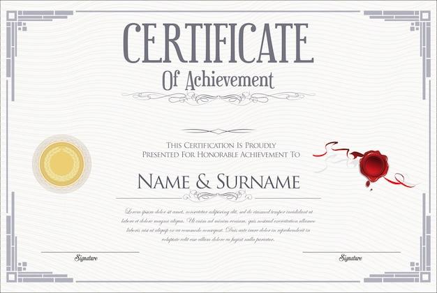 Certificado Vetor Premium