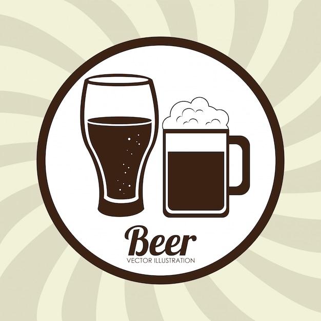 Cerveja design bege ilustração Vetor grátis