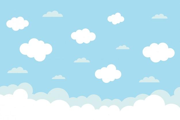 Céu com nuvens Vetor Premium