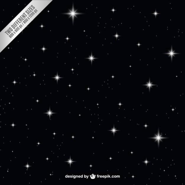 Céu escuro da noite com estrelas de fundo Vetor grátis
