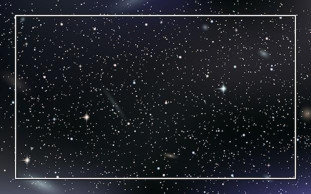 Céu noturno de fundo vector com estrelas Vetor Premium