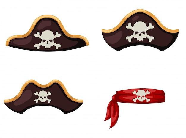 Chapéu de pirata Vetor Premium
