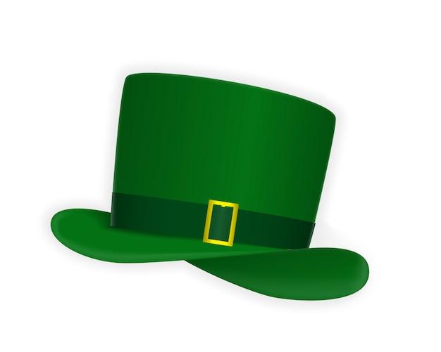 Chapéu festivo verde naturalista com fio dourado Vetor Premium