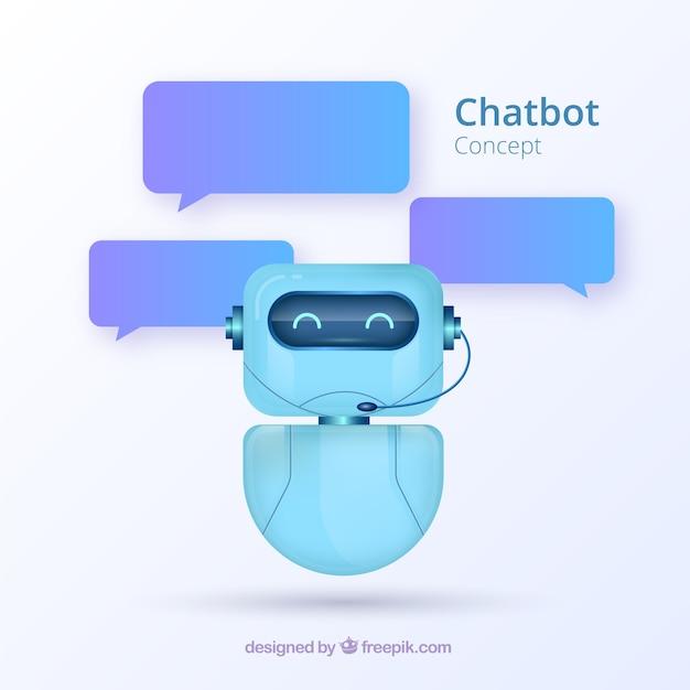 Chatbot conceito fundo em estilo realista Vetor grátis