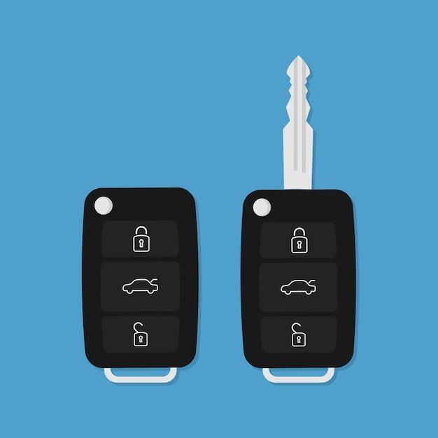 Chave do carro de vetor Vetor Premium