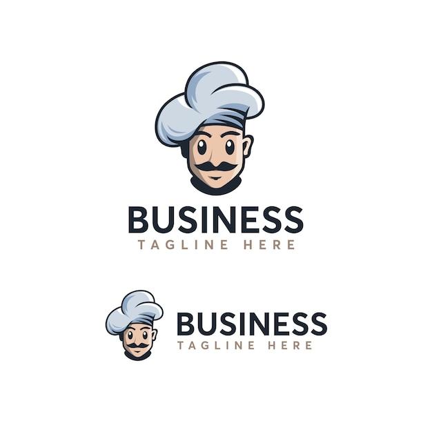 Chef logo template Vetor Premium