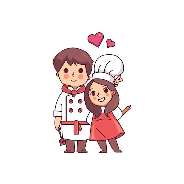 Chefe de cozinha Vetor Premium