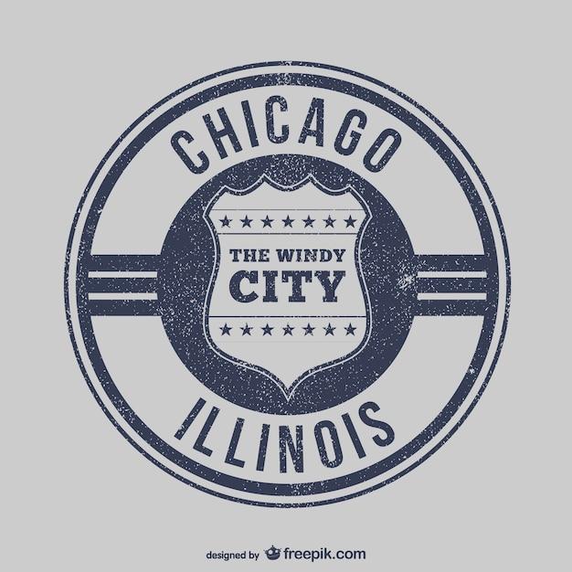 Chicago stamp vector Vetor grátis