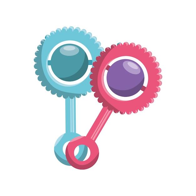 Chupetas bebê isolado ícone vector ilustração design Vetor Premium