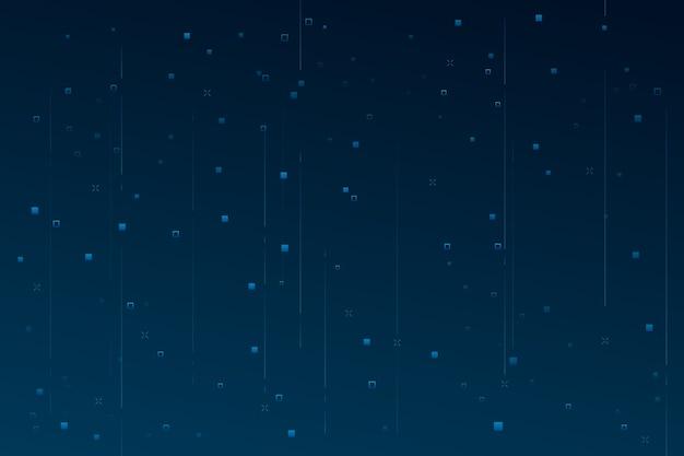 Chuva de pixel abstrato de fundo Vetor grátis