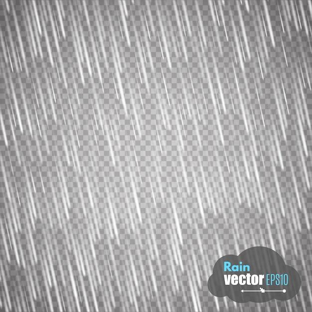 Chuva isolada em fundo transparente. Vetor Premium