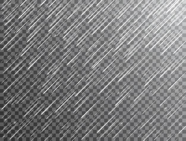 Chuva realista em fundo transparente Vetor Premium