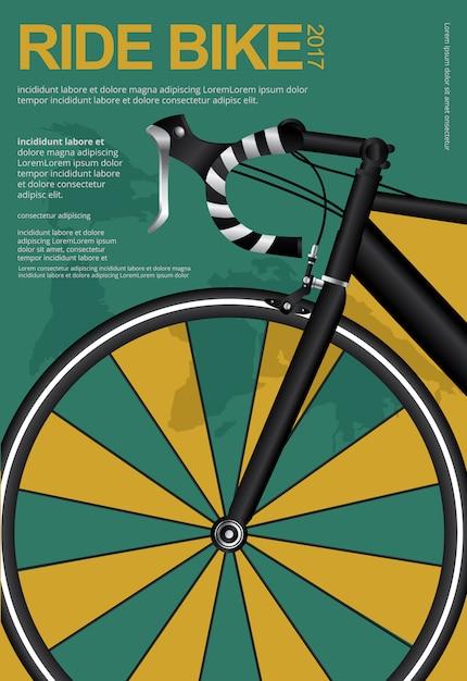 Ciclismo poster design template ilustração vetor Vetor Premium
