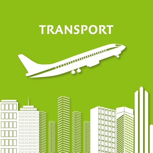 Cidade, Arranha-céu, Vista, Vista da Cidade, Voando, Plano, Skyline, Silhueta, Infografia Vetor grátis