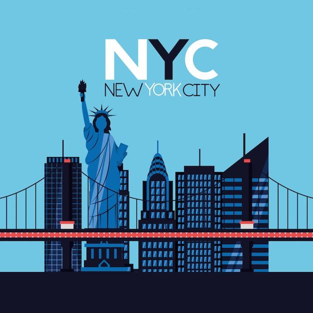 Cidade de nova york Vetor grátis