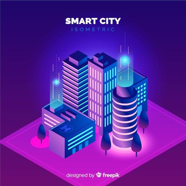 Cidade inteligente Vetor grátis