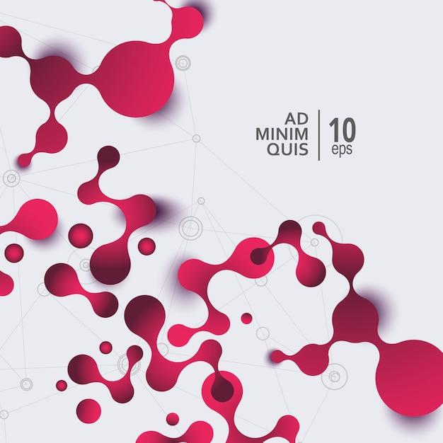 Ciência e medicina abstraem base com moléculas de conexão e átomos. Vetor Premium