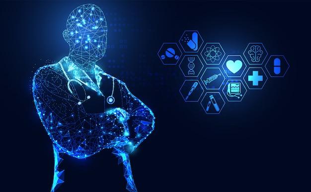 Ciência médica abstrata de saúde Vetor Premium