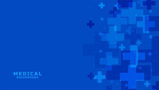 Ciência médica azul e fundo de saúde Vetor grátis