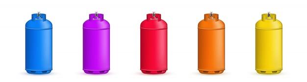 Cilindro de gás, tanque, balão, recipiente de propano. Vetor Premium