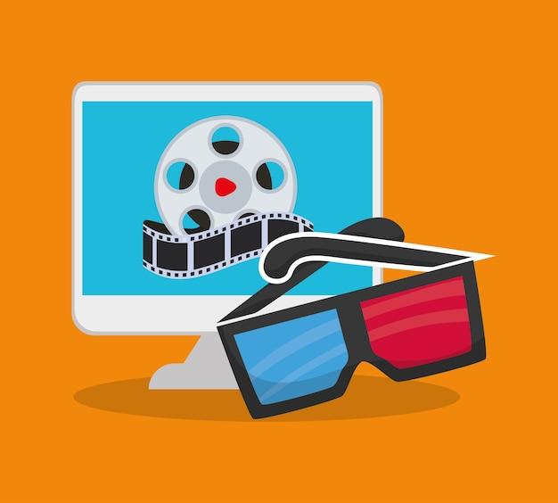 Cinema 3d óculos computador on-line   Baixar vetores Premium 4b418acc0f