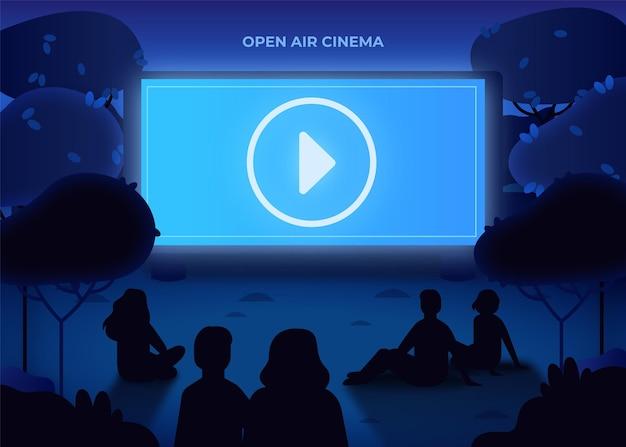 Cinema ao ar livre Vetor grátis