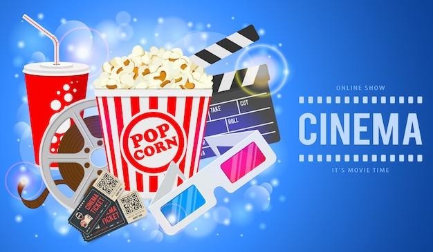 Cinema e filme Vetor Premium
