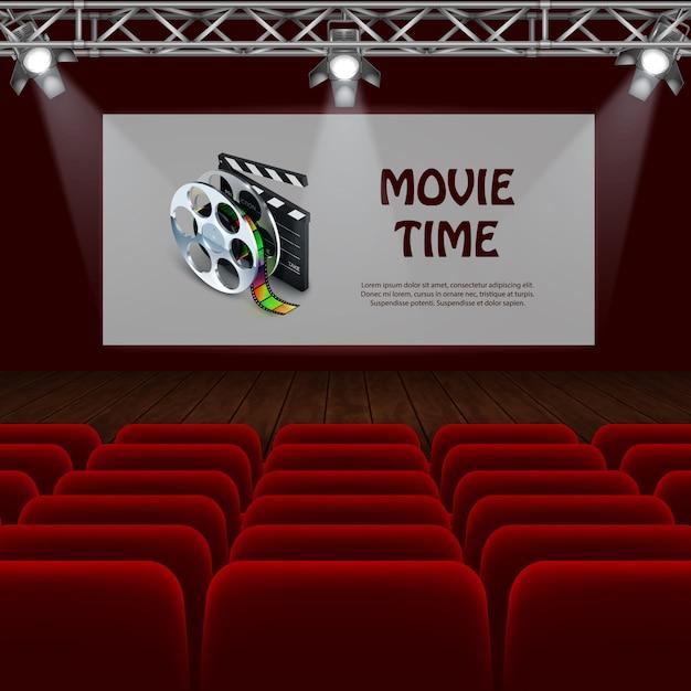 Cinema realista Vetor grátis