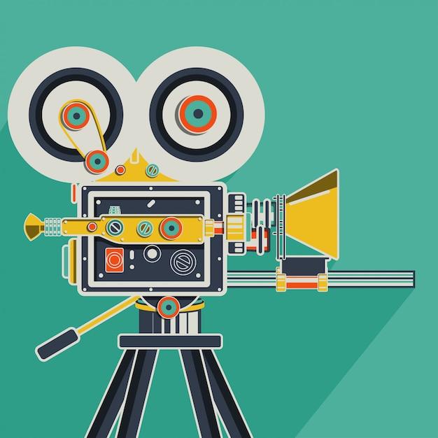 Cinema retrô colorido Vetor Premium