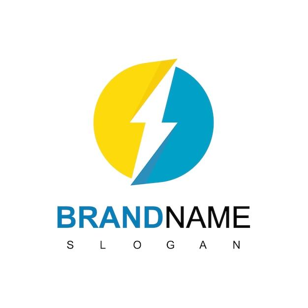 Circle bolt, energy logo design inspiration Vetor Premium