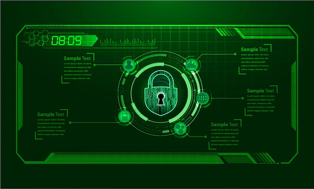 Circuito azul hud cyber futuro conceito tecnologia fundo Vetor Premium