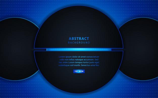 Círculo escuro abstrato com luz de fundo Vetor Premium