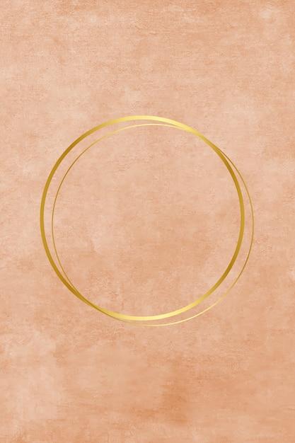 Círculo metálico vazio na pintura Vetor grátis