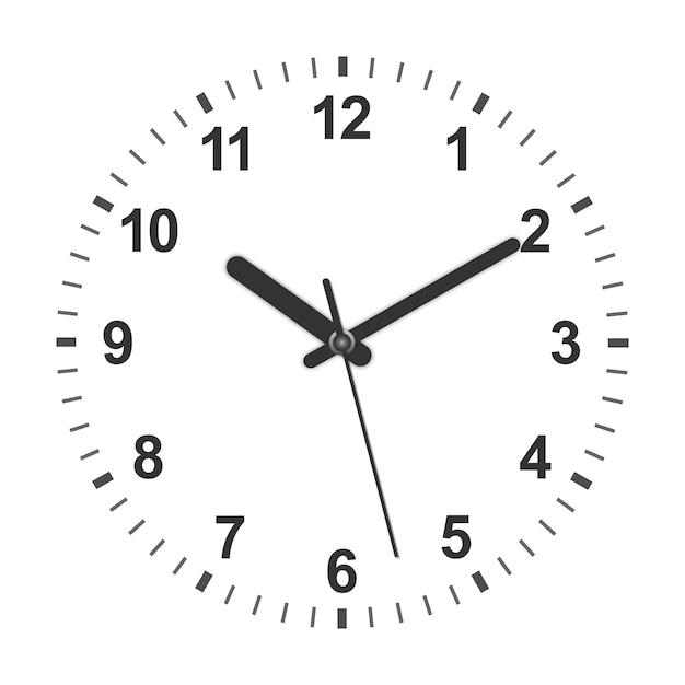 Círculo realístico 3d em forma de relógio. ilustração vetorial Vetor Premium