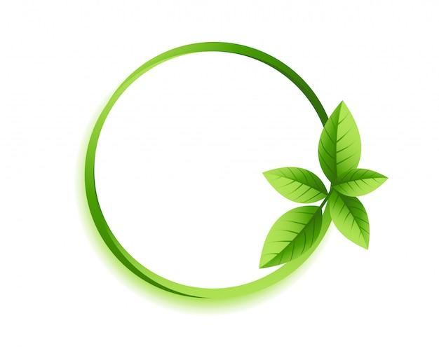 Círculo verde deixa moldura com copyspace Vetor grátis