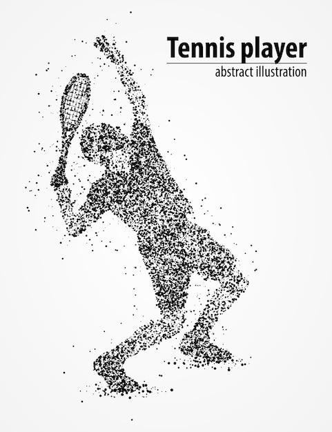 Círculos pretos de reforço de bola de tênis abstrata. ilustração. Vetor Premium