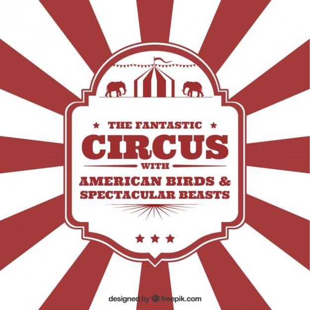 circus panfleto no estilo do vintage baixar vetores gr225tis