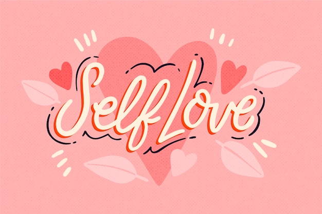 Citação com o conceito de amor próprio Vetor grátis