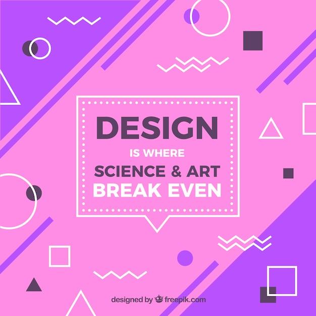 Citação de design gráfico com mensagem inspiradora Vetor grátis