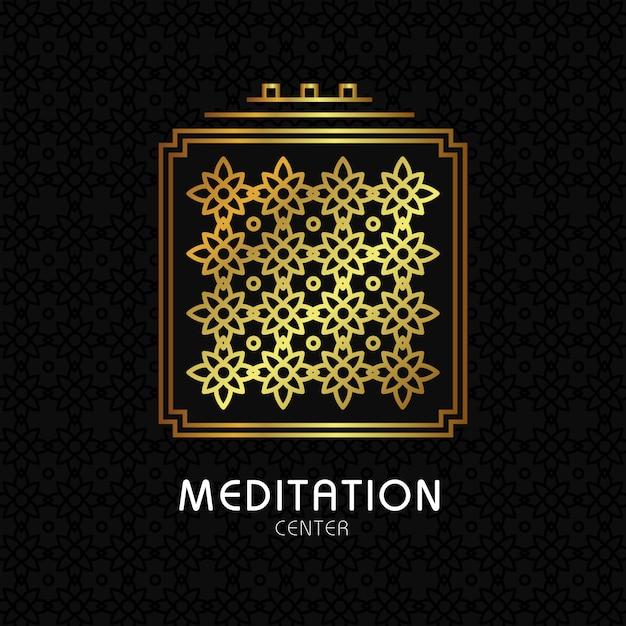 Citação de meditação zen no fundo de textura orgânica Vetor grátis